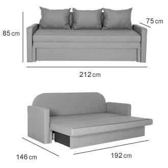 Розмір диван Промінада